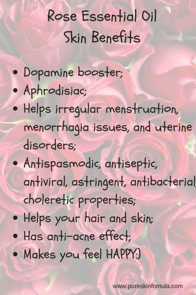 Rose oil skin benefits