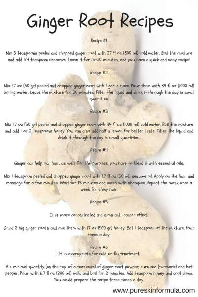 8 Recipes how to use ginger root
