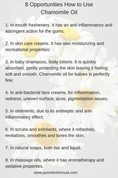 8 opportunities how to use chamomile oil