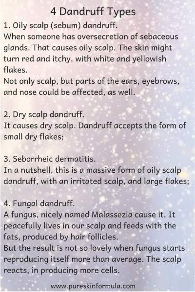 4 Dandruff Types