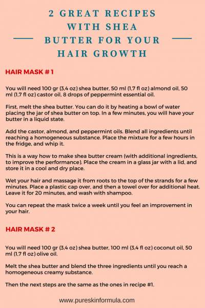 Homemade recipes with shea butter for hair growth