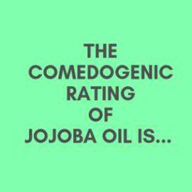Is jojoba oil comedogenic