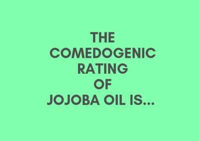 Is jojoba oil comedogenic