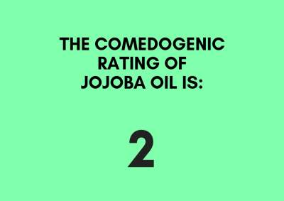 the comedogenic rating of jojoba oil is 2