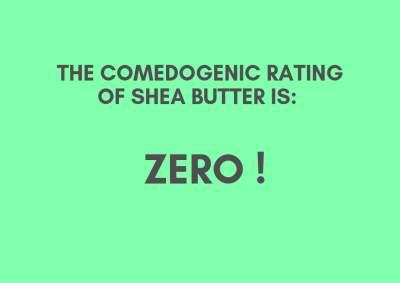 Does shea butter clog pores?