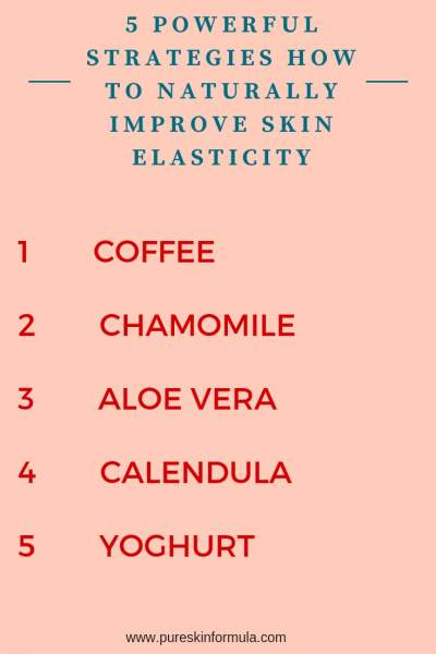 How to improve skin elasticity naturally?
