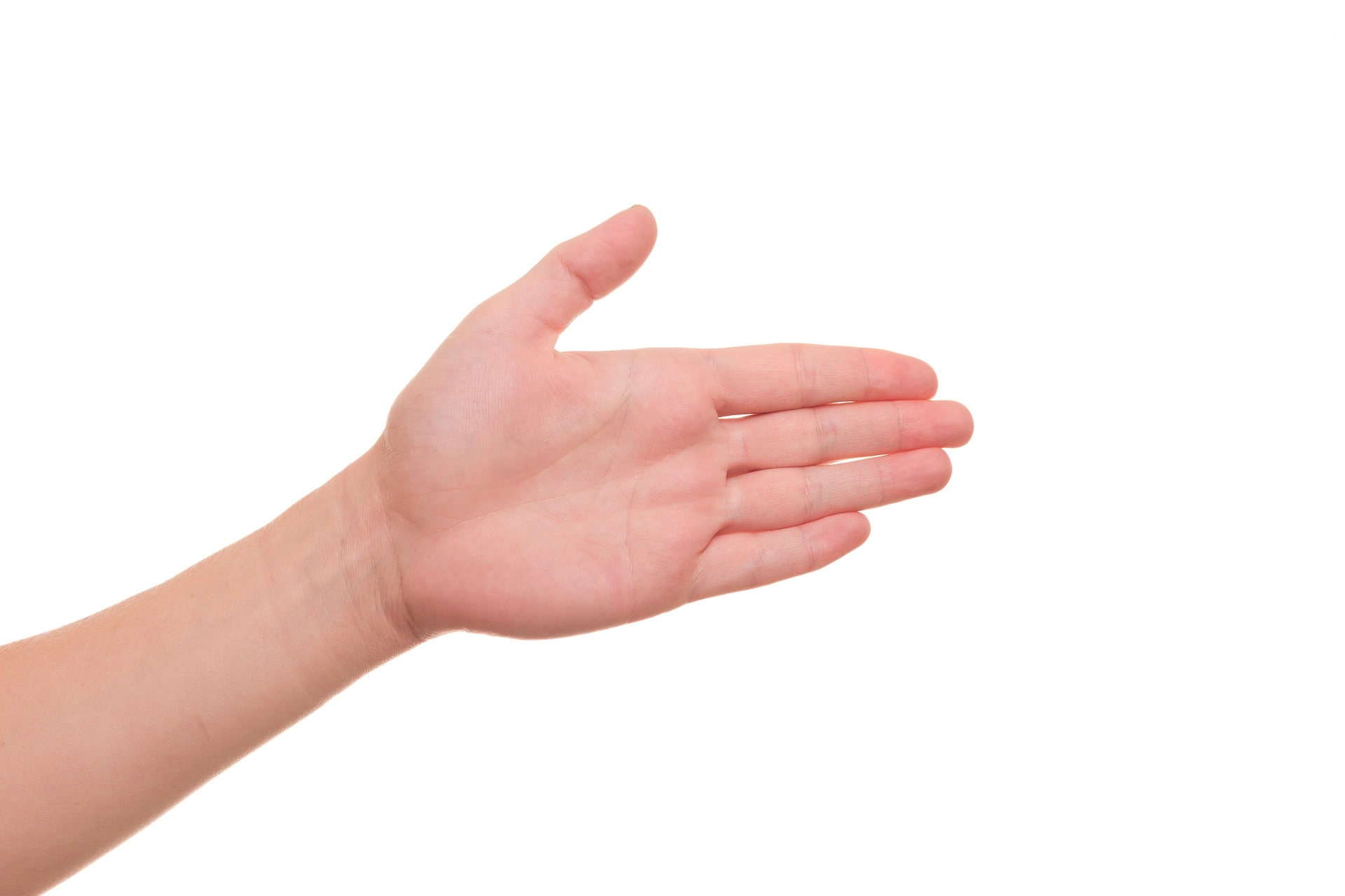 hand treated with hand cream