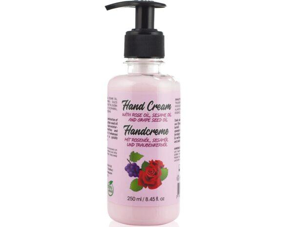 hand cream with rose