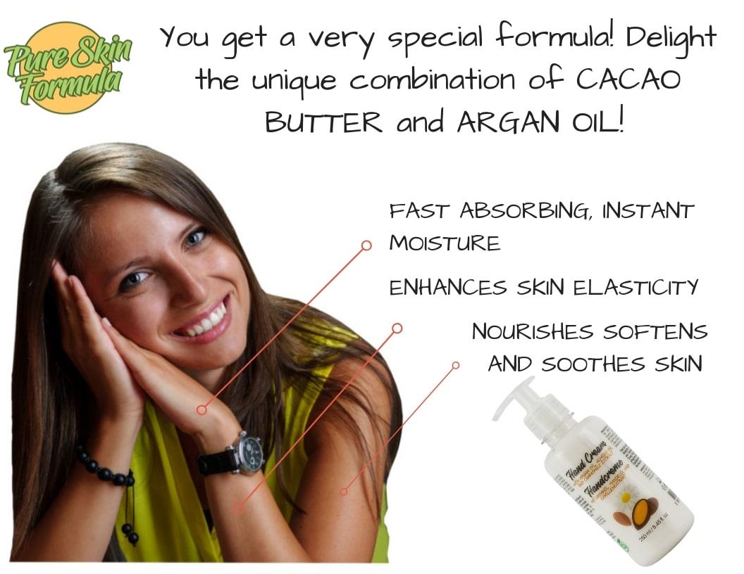 unique formula_hand cream with argan