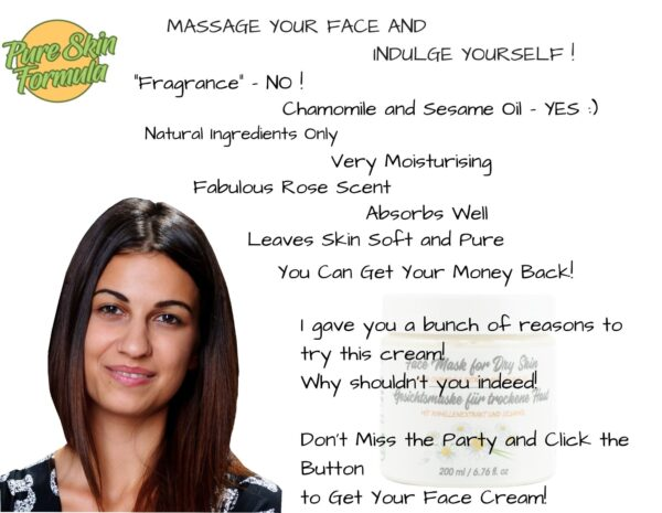 beauty product_face mask with chamomile
