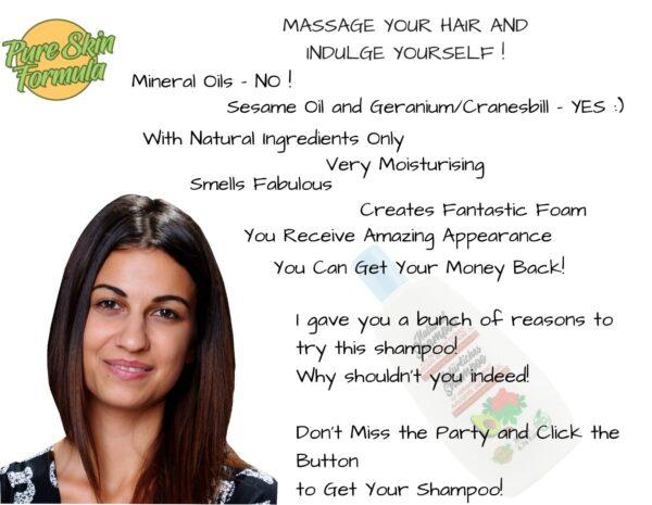 beauty product_shampoo with geranium