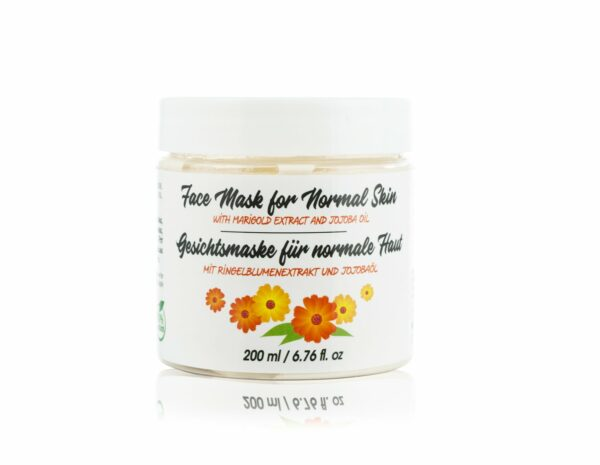 face mask with marigold