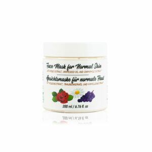 face mask with rose