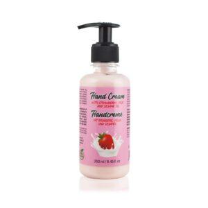 hand cream with strawberry