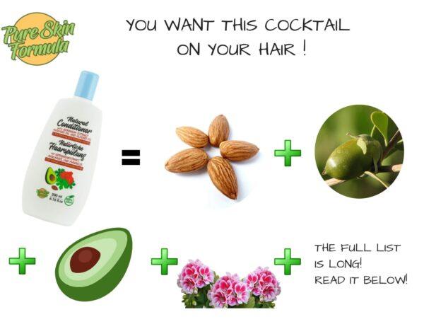 ingredients_hair conditioner with geranium