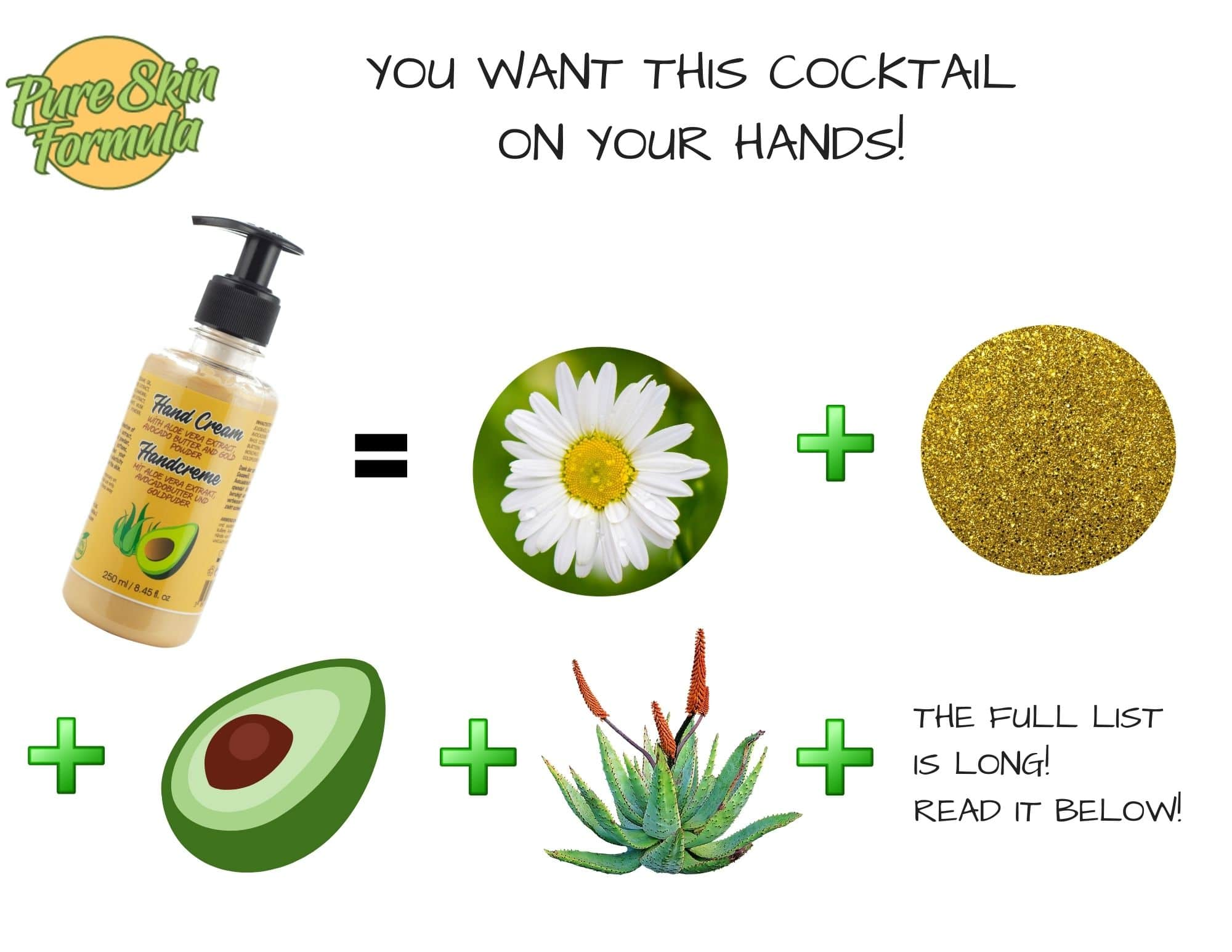 ingredients_hand cream with gold