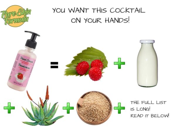 ingredients_hand cream with strawberry