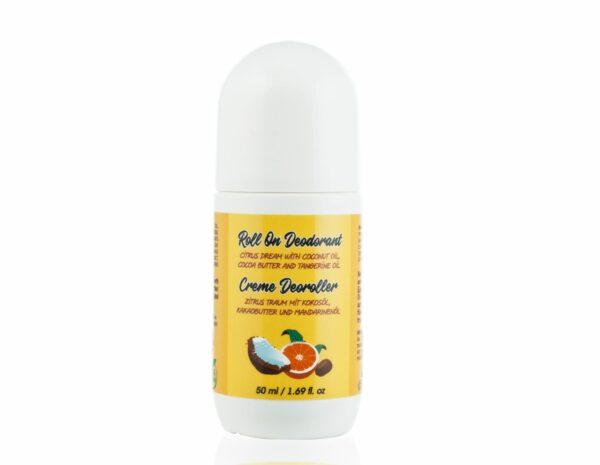 roll on deodorant with tangerine