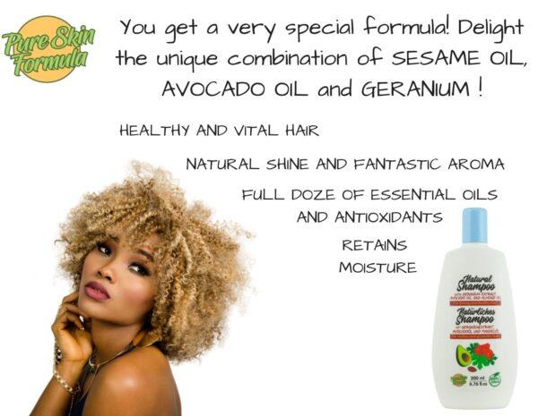 unique formula_shampoo with geranium