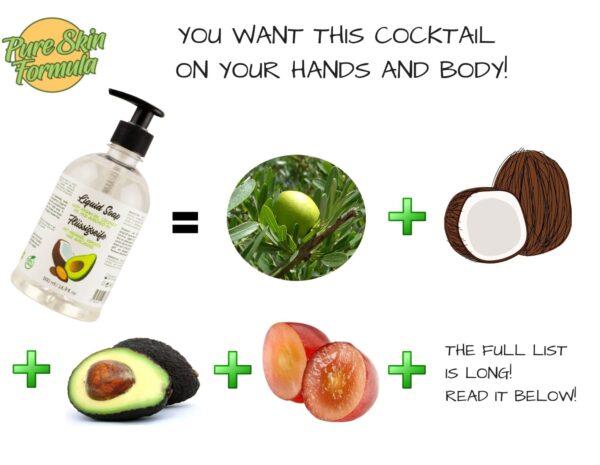 ingredients_liquid soap with argan oil