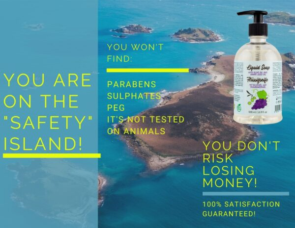 money back guarantee_liquid soap with olive oil