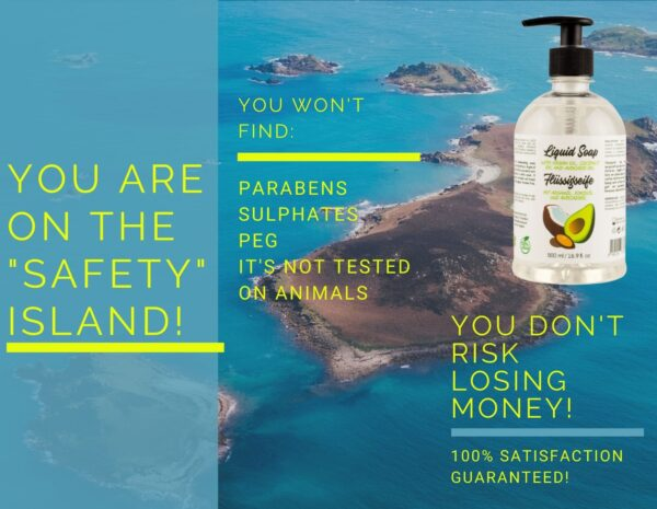 money back guarantee_liquid soap with argan oil
