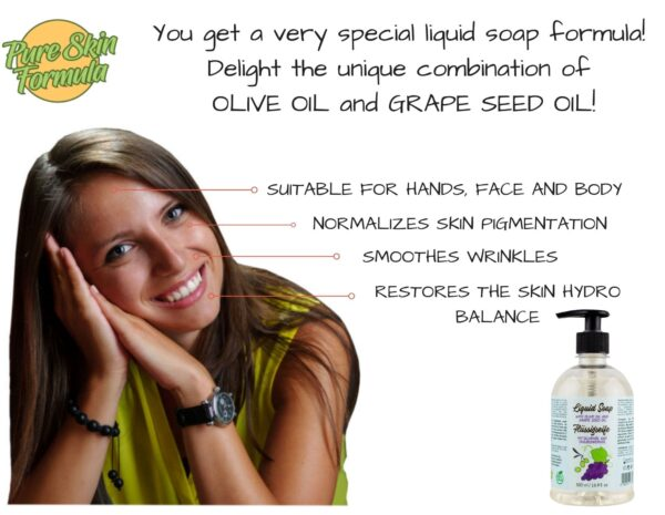 unique formula_liquid soap with olive oil