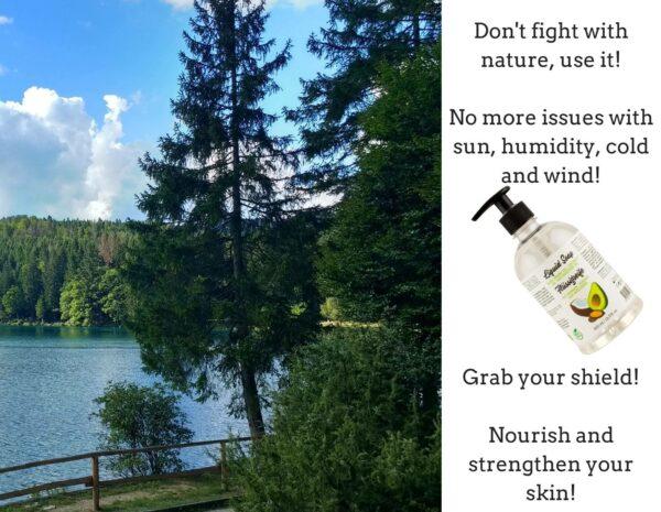 use nature_liquid soap with argan oil